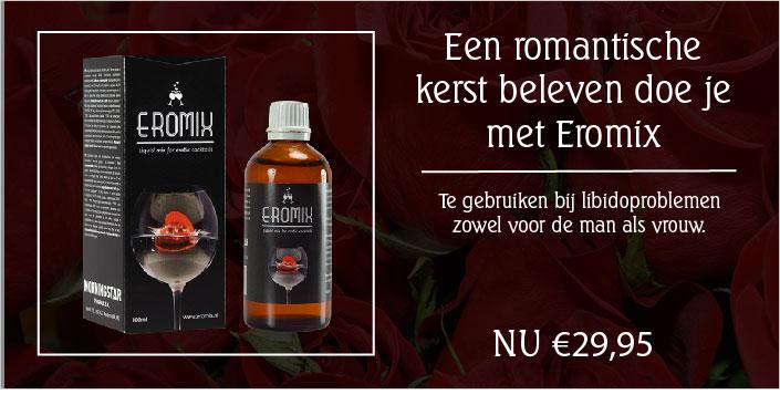 Een banner die erotische producten laat zien. nu nog romantischer met kerst. sex draait door.